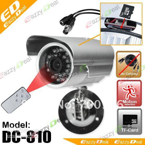 DC-810 remote control Waterproof Motion Detection 7days x 24hrs Outdoor Security CCTV DVR Camera for digcal video recorder