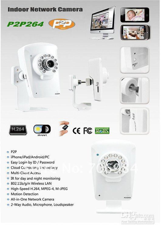 Free shipping Indoor IP network cloud surveillance camera