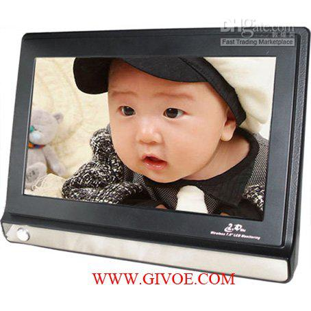 Free shipping! 7 inch Video baby monitor, Two camera ( wholesale and detail)