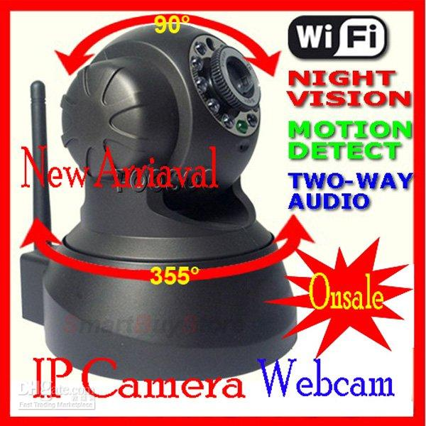 hot selling,Nightvision IR Webcam Web CCTV Camera WiFi Wireless IP Camera, colorful retail box,black color,free shipping